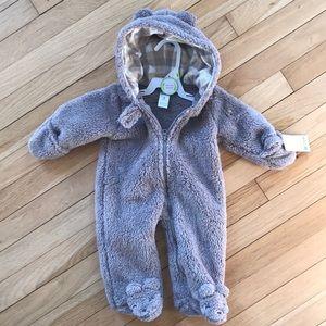 NWT! Fleece bear onesie